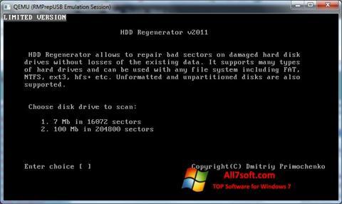 스크린 샷 HDD Regenerator Windows 7
