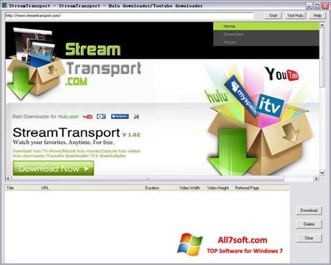스크린 샷 StreamTransport Windows 7