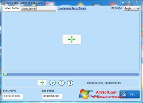 스크린 샷 Free Video Cutter Windows 7
