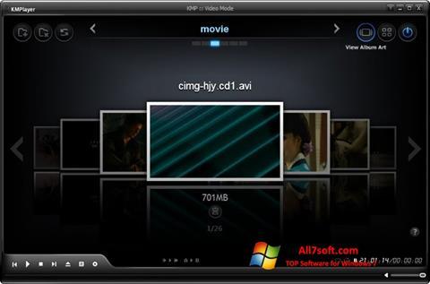 스크린 샷 KMPlayer Windows 7