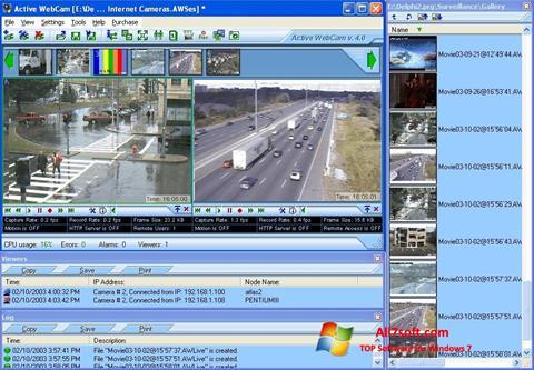 스크린 샷 Active WebCam Windows 7