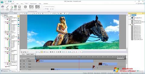 스크린 샷 VSDC Free Video Editor Windows 7