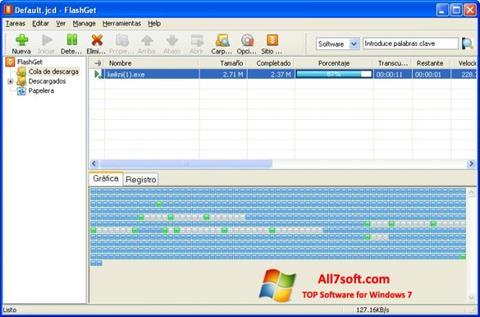 스크린 샷 FlashGet Windows 7